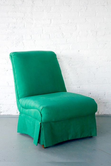 Our twin Emerald Slipper Chairs hold a classic shape and kill it every time they are styled! We love these vintage beauties!!