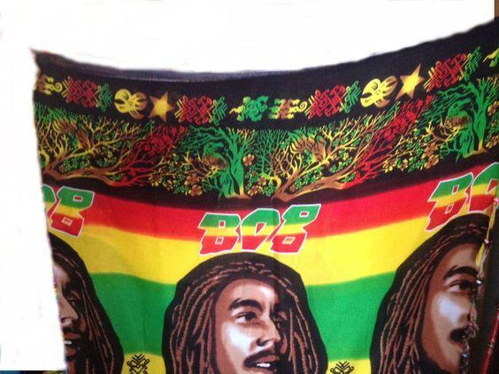 Kikoy/kikoi/wall Decor/Sarong Bob Marley