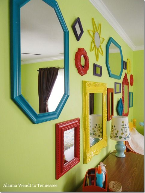 kids 39 room mirror gallery wall diy crafts pinterest