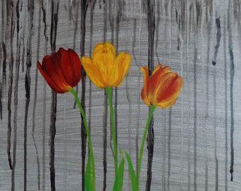 Spring Tulips Illustration Art Print by joannabaker on Etsy