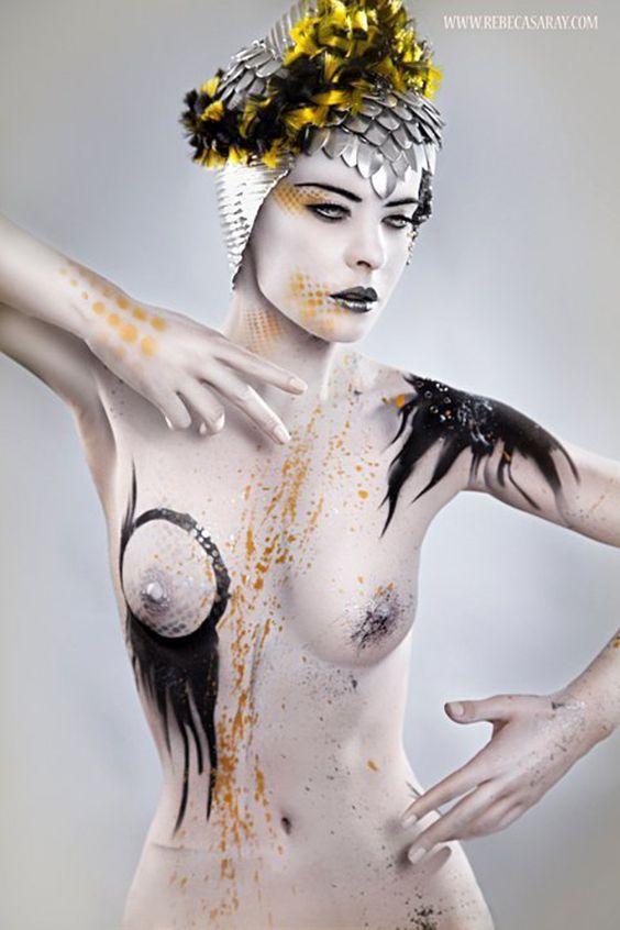 Bodypainting for Rebeca Saray by Creative Studio Kimatica - ego-alterego.com: