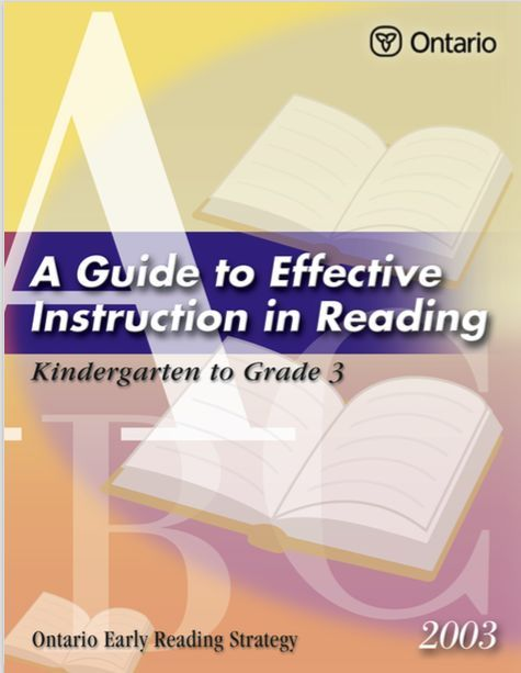 A Framework For Effective Early Reading Instruction