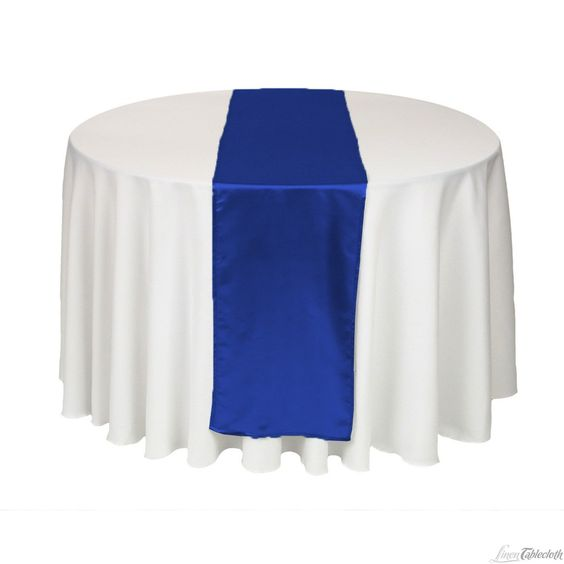 14 x 108 in satin table runner royal blue wedding for 108 inch table runners