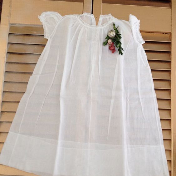 Vintage Baby Clothes White Baby Dress Antique Christening Dress Lace Interesting Baby Dress Display Stand