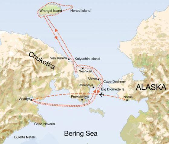 Diomede Island Google Maps