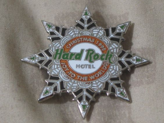 A Junkee Shoppe Junk Market Stop: HARD ROCK Hotel Las Vegas 1995 Staff Christmas Pinback ... For Sale Click Link Here To View >>>> http://ajunkeeshoppe.blogspot.com/2015/12/hard-rock-hotel-las-vegas-1995-staff.html