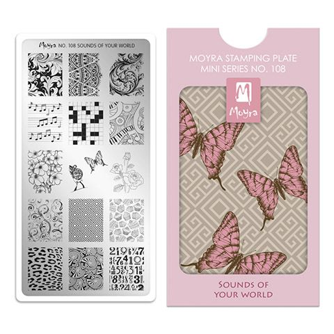 Moyra Mini Stamping Plate 108- Sounds of Your World
