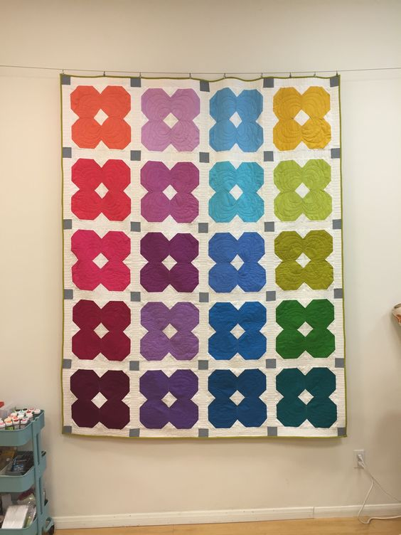 Florette quilt made with all Kona Cottons.: