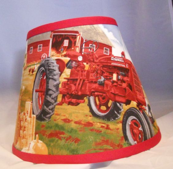 Tractor Lamp Shades : Country farmall tractor lamp shade on etsy