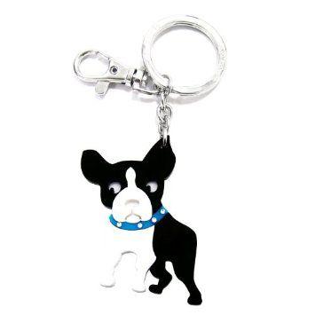 Amazon.com: Love Your Breed Acrylic Keychain, Boston Terrier: Pet Supplies