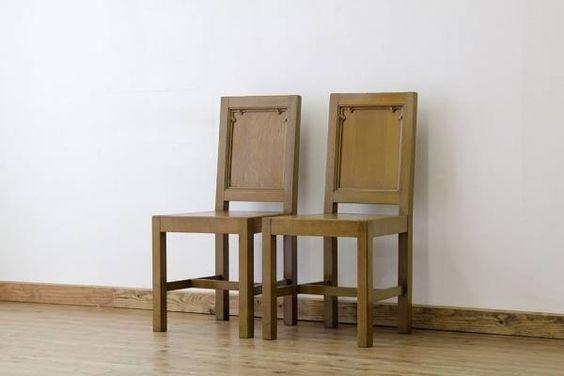 Church Chairs A17713アンティークイギリスチャーチチェア2脚セット4 インテリア 雑貨 家具 Antique ¥43500yen 〆06月18日