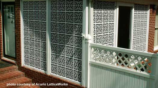 decking lattice enclosure