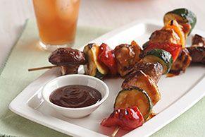 BBQ Grilled Chicken Kabobs