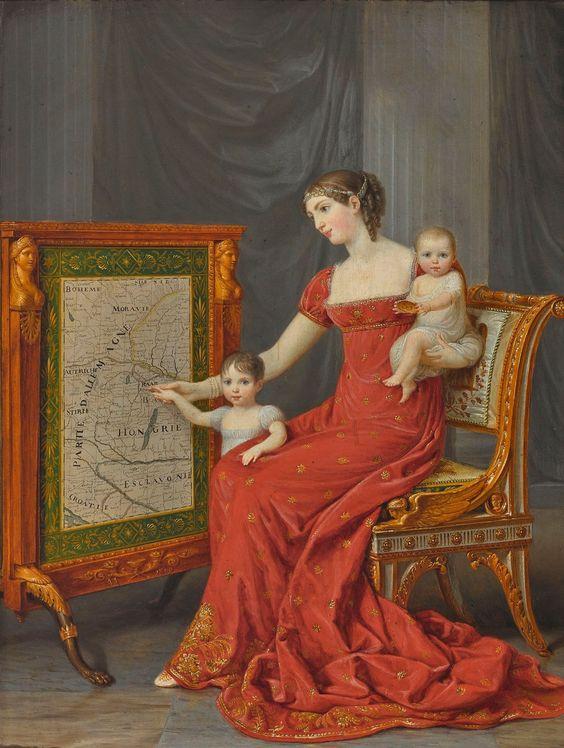 La princesse Impériale de France Augustine Amélie Louise de Baviere de Venise , d'Eichstatt , vice reine d'Italie Duchesse de Leuchtenberg