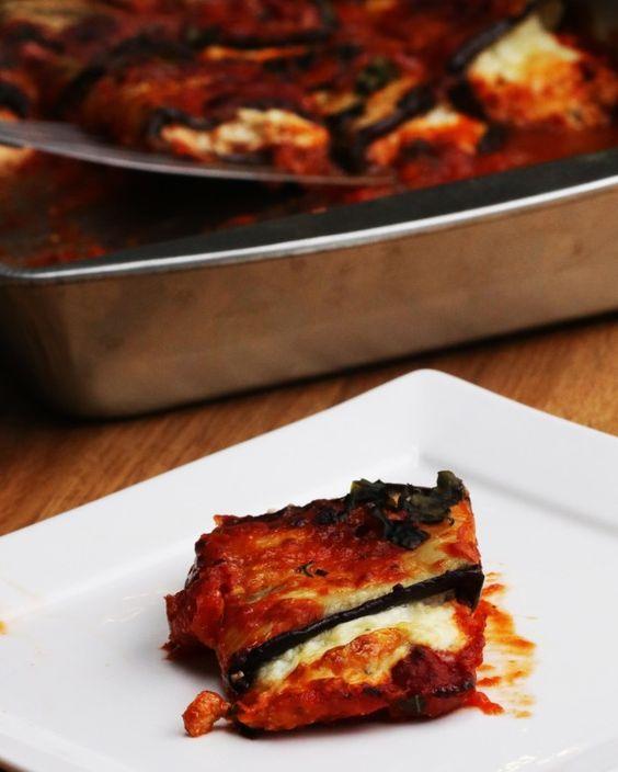 Diese Auberginen-Lasagne-Röllchen wirst Du immer wieder machen wollen