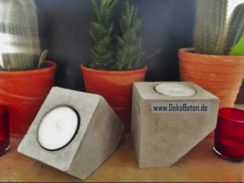 DekoBeton | Dekoration aus Beton - Betondekoration als Inneneinrichtung - YouTube