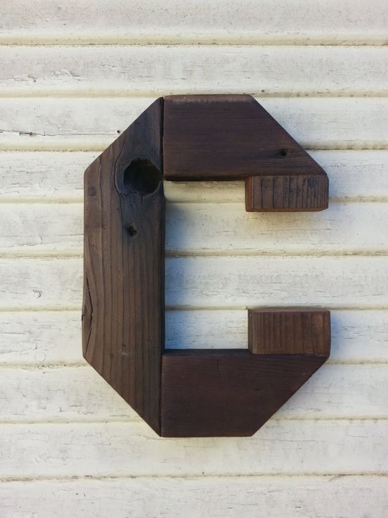 rustic wooden letter c by mollyandmaple on etsy 1500