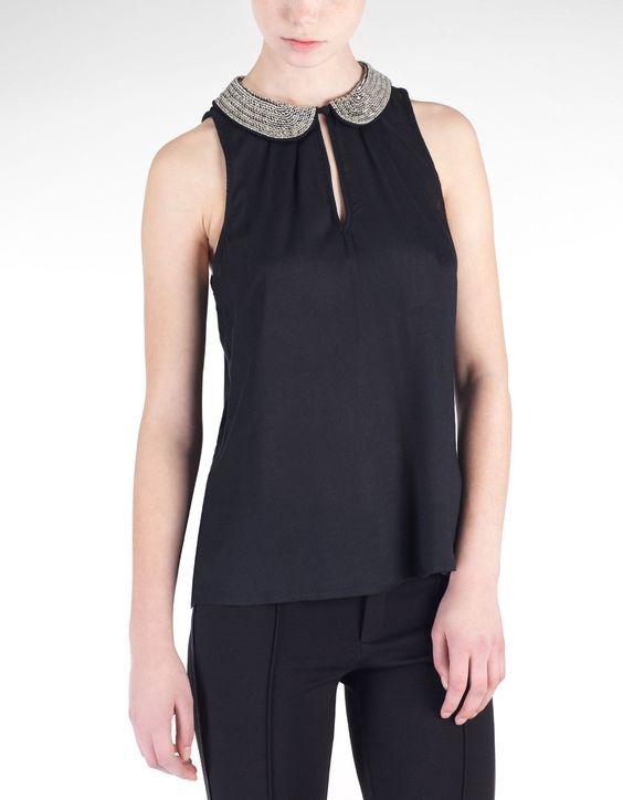 Camisa gola beads