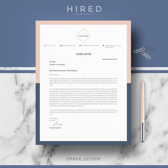 Creative Resume Template for Word Taylor - 100 Editable - editable resume template