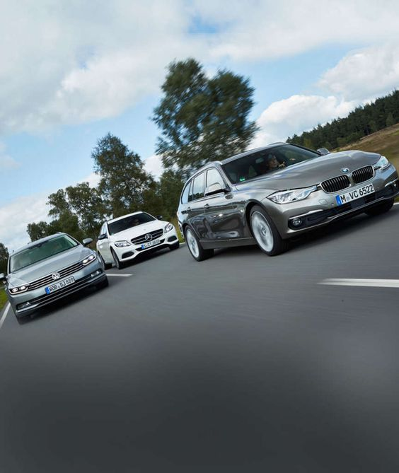 VERGLEICH VW PASSAT, MERCEDES C-KLASSE, BMW 3ER So klasse sind die Mittelklasse-Kombis