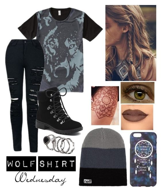 """Wolf Shirt Wednesday p.24"" by a-valen ❤ liked on Polyvore featuring G.H. Bass & Co."
