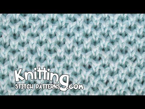 Pearl Brioche stitch - YouTube