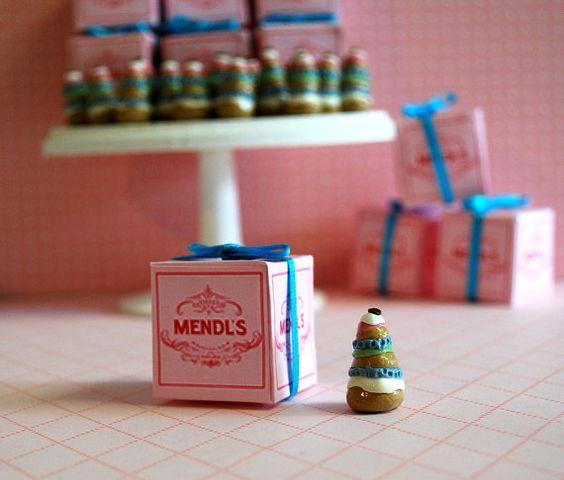 Miniature Mendl's Courtesan au Chocolat and Box by PullstringLane