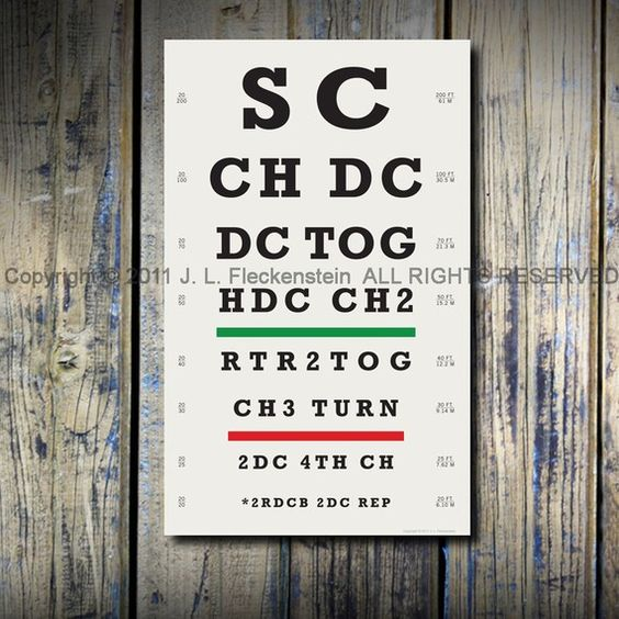 Crocheter's Eye Chart (TM)