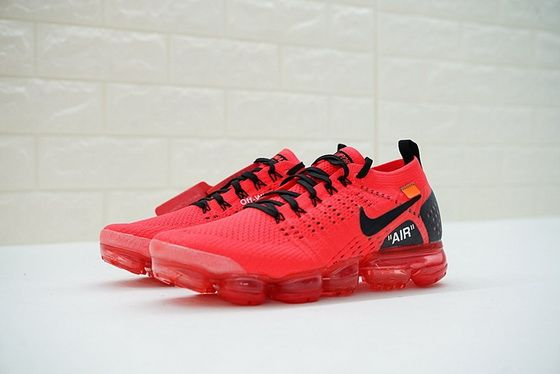 0a74de74bde0 Nike Air Vapormax Flyknit 2.0 2018 Off White Blood Red Black 942842.006 New  Arrival Shoe