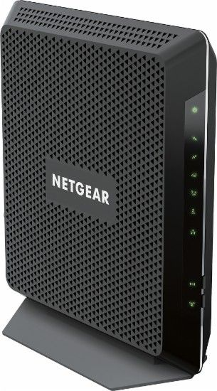 NETGEAR - Nighthawk AC1900 Dual-Band Router with DOCSIS 3.0 Cable Modem - Black…