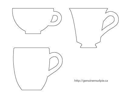 Coffee mug| Tea Cups | Templates-Stencils-Printables ...