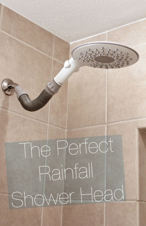 Quick And East Bathroom Update How To Install A Rainfall Or Waterfall Shower Head This One Is Inexpensive Under Shower Heads Rainfall Shower Waterfall Shower