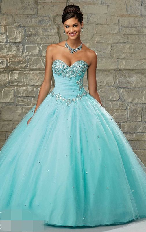 short tiffany blue quinceanera dresses - Google Search - Quince ...