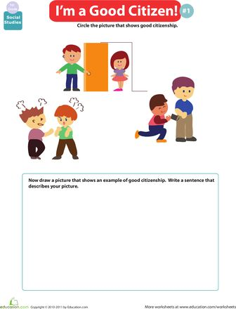 Worksheet Citizenship In The Community Worksheet good citizen worksheets and first grade on pinterest