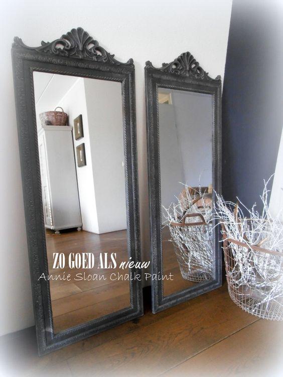 Spiegels van de xenos even een likje verf gegeven for Spiegel xenos