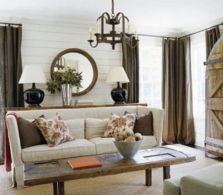 Rustic Modern Living Room | Mixing Modern And Rustic-Classic