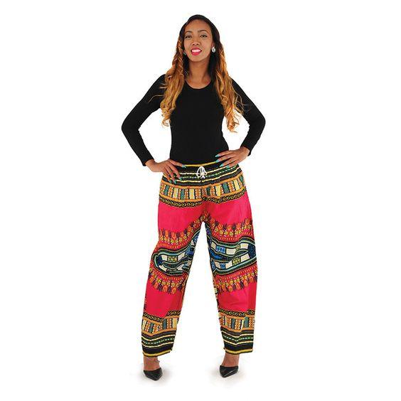 Traditional Print Pocket Pants