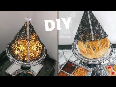 Diy حصري اباجورة تحفة و حامل الحلويات طبيقة Youtube Dollar Tree Diy Diy Ceiling Lights