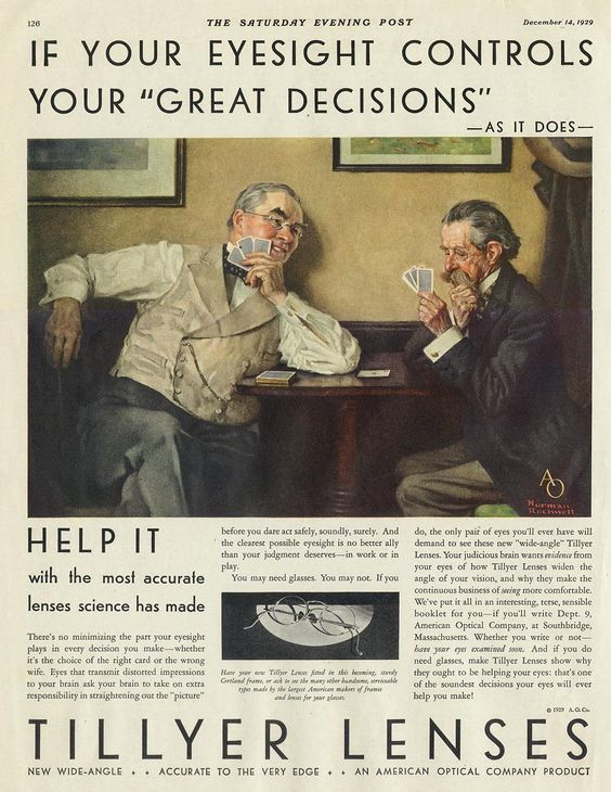 Two of six original Norman Rockwell Paintings commissioned by AO use in Saturday Evening Post Ads