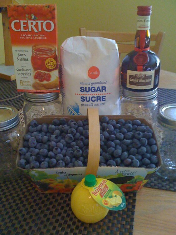 blueberry and Grand-Marnier jam recipe