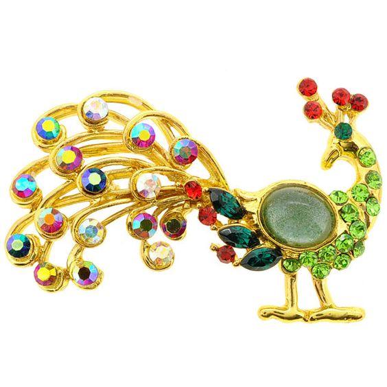Mutlicolor Peacock Pin 1012682 от pinxus на Etsy