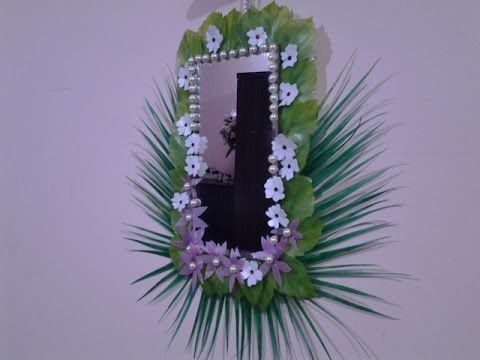 Best out of waste plastic fabulous mirror wall hanging for Wall hanging out of waste