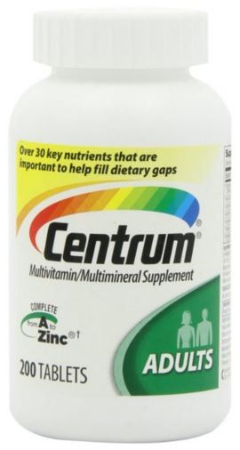 Centrum Adult Multivitamin Multimineral Supplement 200 Tablets