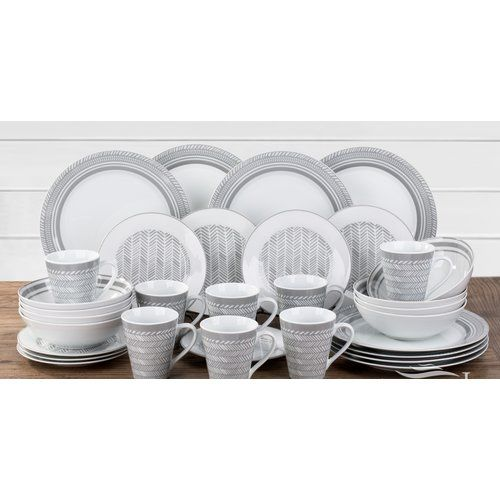 32 Piece Dinnerware Set Service For 8 Symple Stuff Dinnerware
