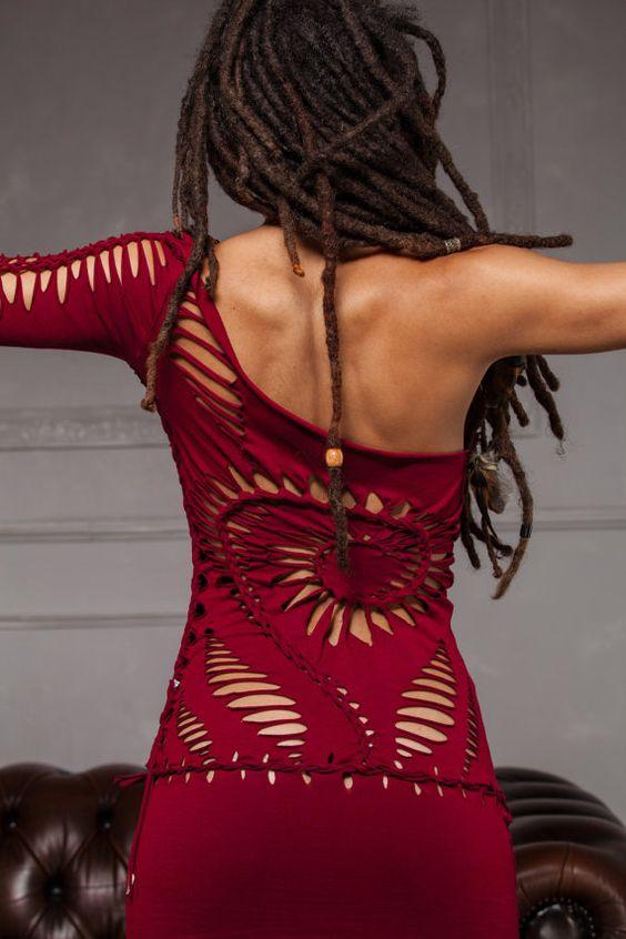 SPIRAL-Kleid Handmade Tribal Festival Party Kleid von ShambaWear