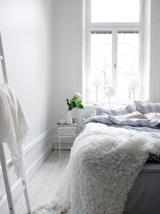 white bedroom. lovely blanket