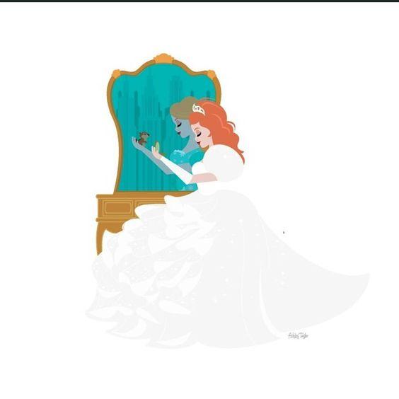 """""""Newest vanity illustration: Giselle! #giselle #enchanted"""""""