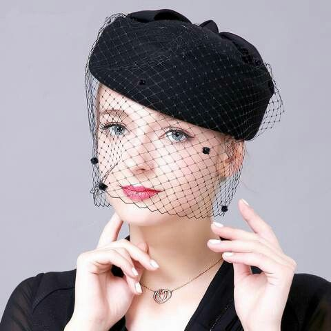 Pin By Marni On Beautiful Warm Hats And Headpieces Hat With Veil Fascinator Hats Wedding Beret Hat