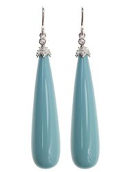 Viv & Ingrid Silver & Turquoise Cirque earrings: Equal parts elegant and stunning, these vintage-inspired earrings are the true definition of refined glamour!