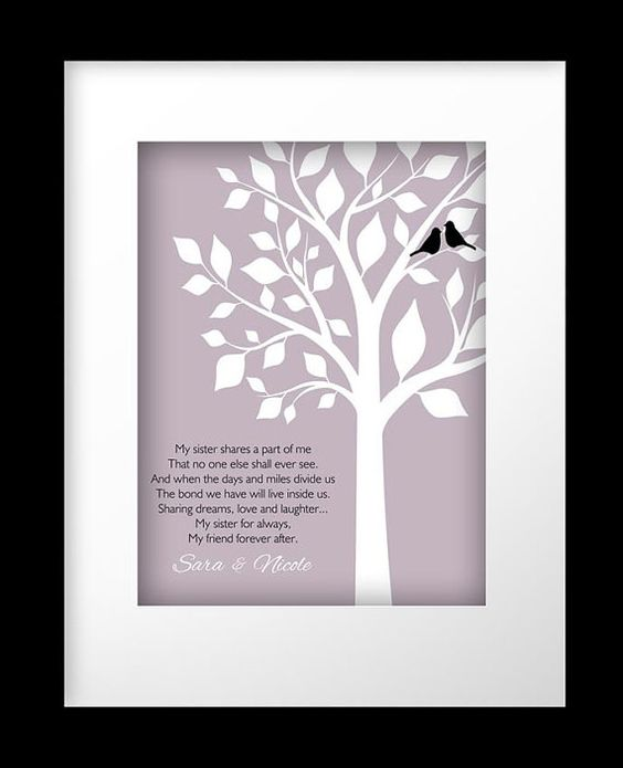 Sister Gift Personalized Gift for Sister Wedding Gift for Sister ...